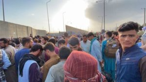 People have been attempting to flee via Kabul airport