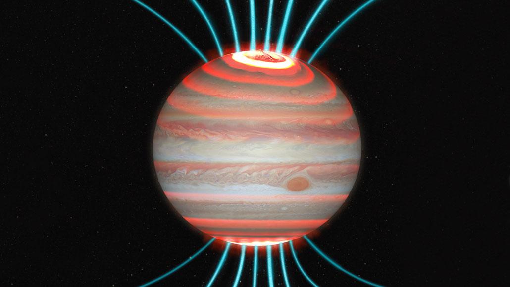 Jupiter's intense auroras superheat its higher environment