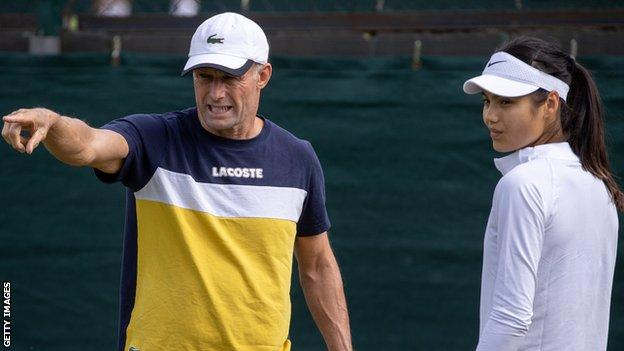 Raducanu changed coach after Wimbledon with Nigel Sears (left) replaced by Andrew Richardson