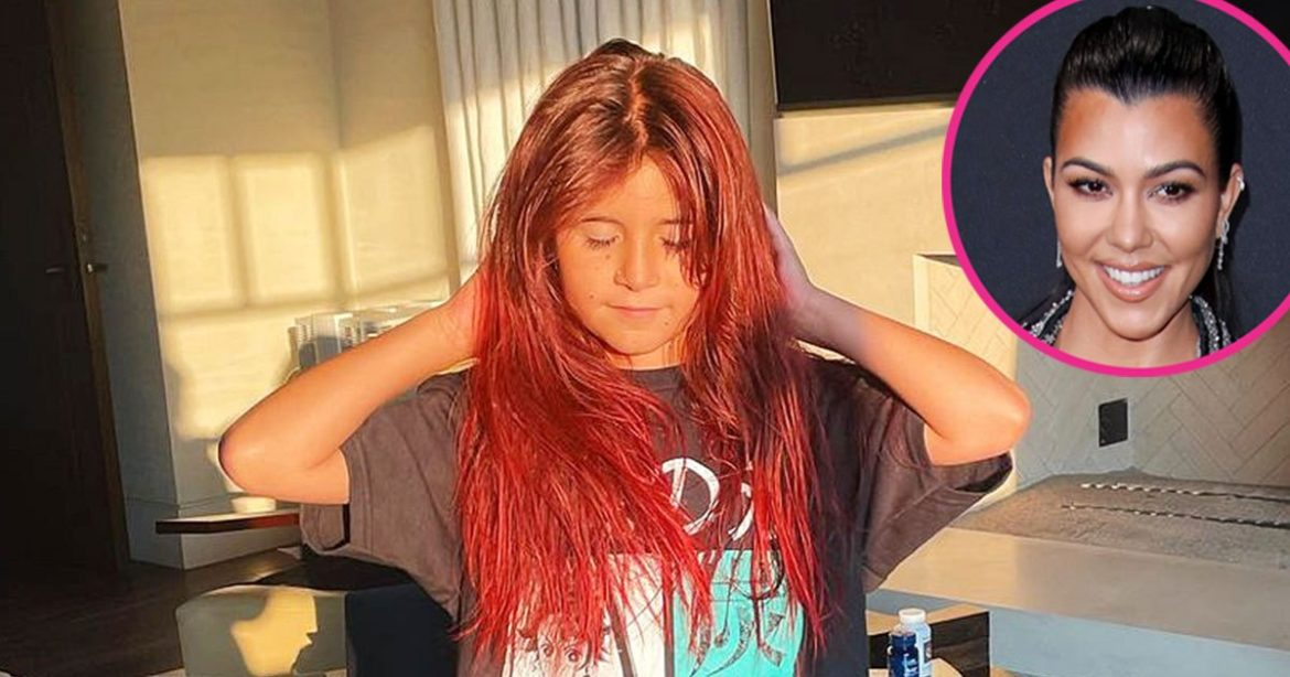 Magnificence Lady! Penelope Disick Dyes Her Hair Vivid Pink