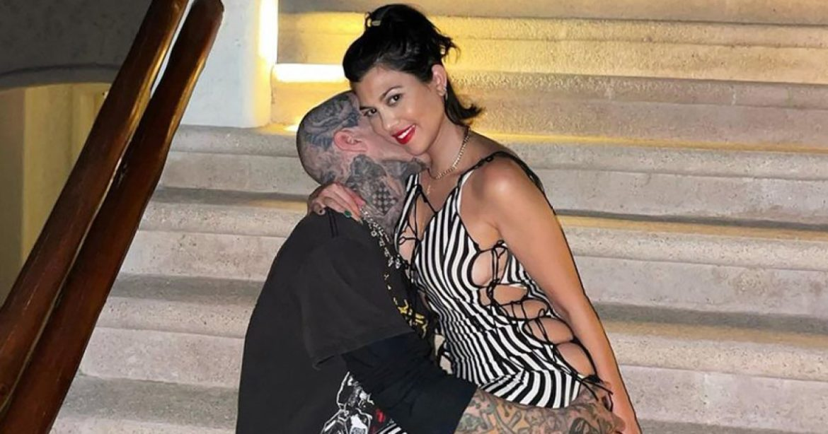 Kourtney Kardashian and Travis Barker Fly to Italy for PDA-Packed Journey