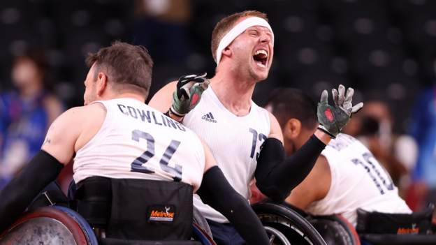Tokyo Paralympics: GB beat USA to win first wheelchair rugby gold